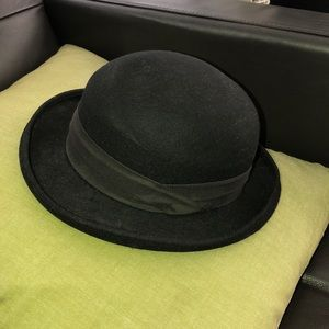 Saks Fifth Ave wool bowler hat